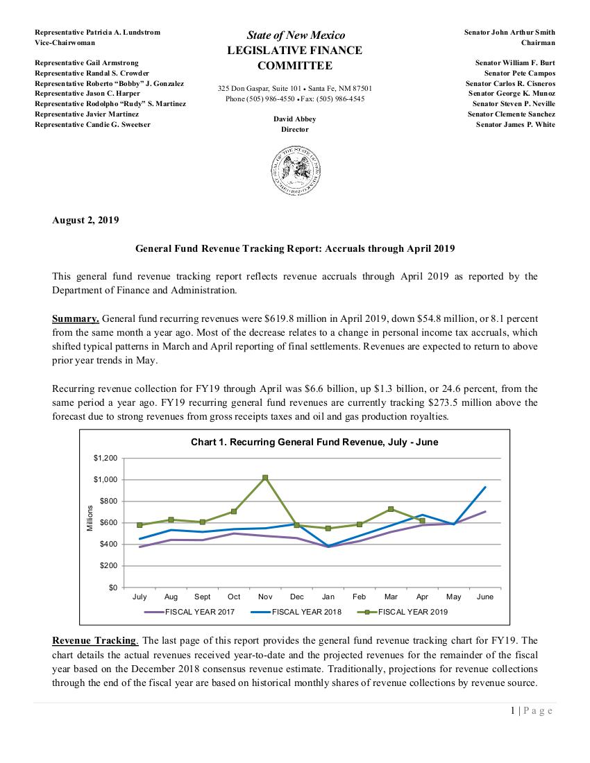 Legislative Finance Committee - New Mexico Legislature
